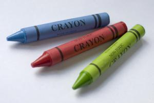 Wax Crayons In Primary Colours